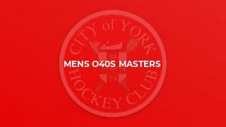 Mens O40s Masters