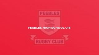 Peebles High School U16