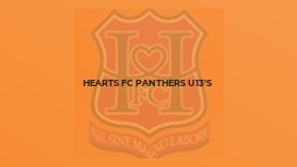 Hearts FC Panthers U13's